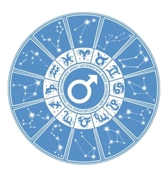 Horoscope circle for manZodiac signgender vector image vector image