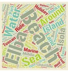 Isola d Elba beach holidays Sheer heaven for vector image vector image