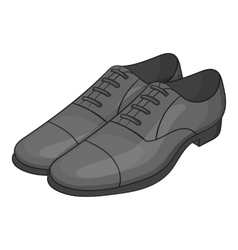 Mens classic shoes icon cartoon style vector image