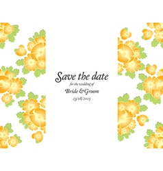 Save the date wedding invite card template vector image vector image