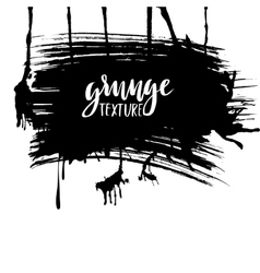 Splatter paint texture grunge background black vector