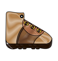 Trekking boot icon image vector