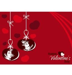 Valentine Couple Hanging Tag Background vector image vector image