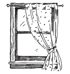 Window similar mechanism vintage engraving vector