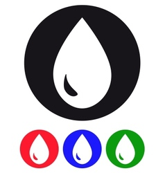 Drop of water icons vector