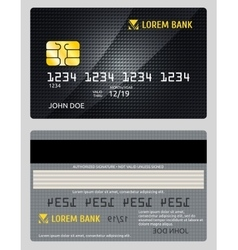 Detailed glossy credit card isolated on vector image
