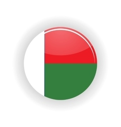 Madagascar icon circle vector