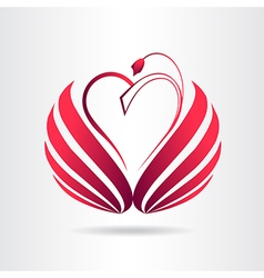 Abstract red heart vector