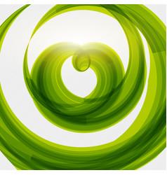 Green heart shape eco friendly background vector