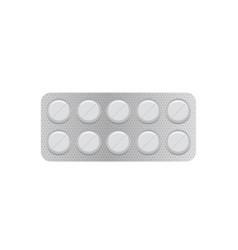 white 3d blister pack of tablet vector image