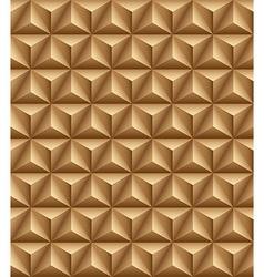 Tripartite pyramid brown seamless texture vector image