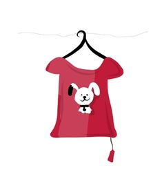 Top on hangers with funny animal design vector image