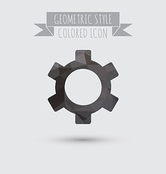 Symbol settings cogwheel icon setting and repair vector