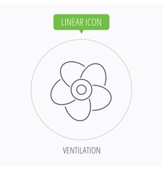 Ventilation icon fan or propeller sign vector