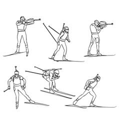 biathlon set vector image