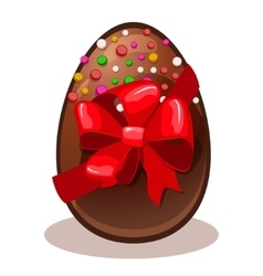 Happy easter gift- chocolate egg vector