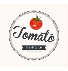 Tomato juice detailed label vector