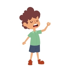 Boy stands vector