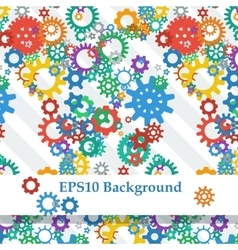 Abstract Background with Colorful Gears vector image vector image