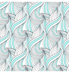 Abstract blue waves seamless pattern vector image
