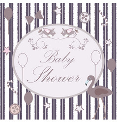 baby shower congratulations card vector image