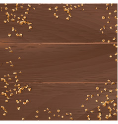 Brown background with wooden texture and vector