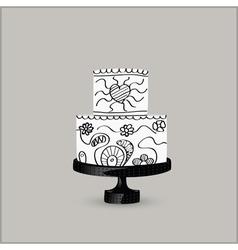 Cake black vector