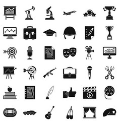 Career icons set simple style vector