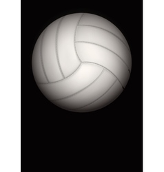 Dark background of volleyball ball vector