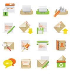 email icon set vector image vector image