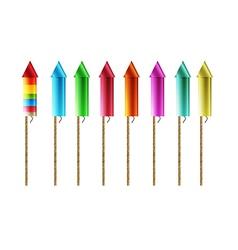 Firework rockets vector