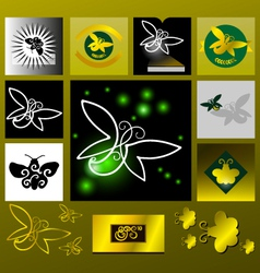 Glowworm golden light vector