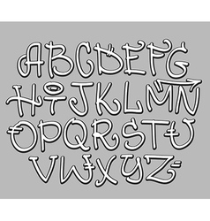 Graffiti font alphabet letters hip hop type vector