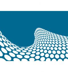 half pipe wave green vector image vector image