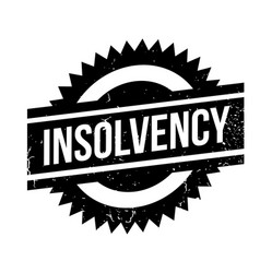 Insolvency rubber stamp vector