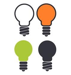 Light bulb icon set vector