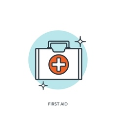 Medical icon first aid help vector