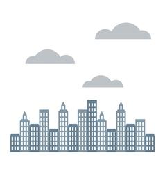 Modern city skyscrapers vector