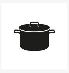 Pot icon in simple monochrome style icon vector