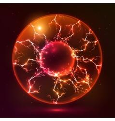 Red fire plasma ball vector