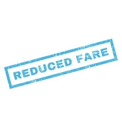 Reduced fare rubber stamp vector