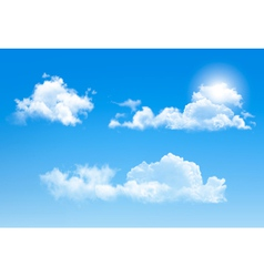 Set of transparent different clouds vector image vector image