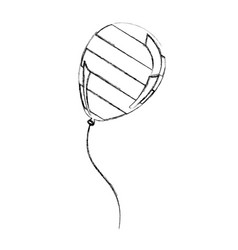 silhouette balloon with stripes independece day vector image vector image