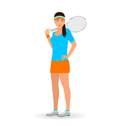 sport people concept tennis woman with racket vector image