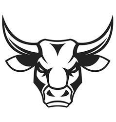 The head of a ferocious bull vector