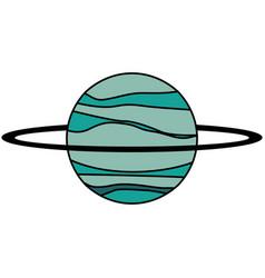Uranus planet solar system vector
