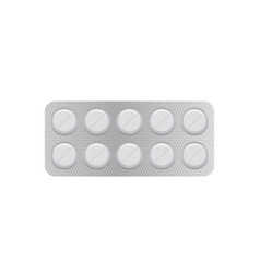 White 3d blister pack of tablet vector