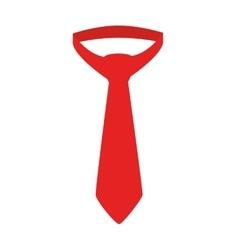 Tie red necktie suit isolated vector