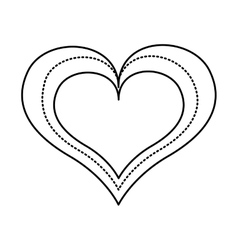 Heart love drawing icon vector