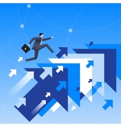 Running up to success business concept vector